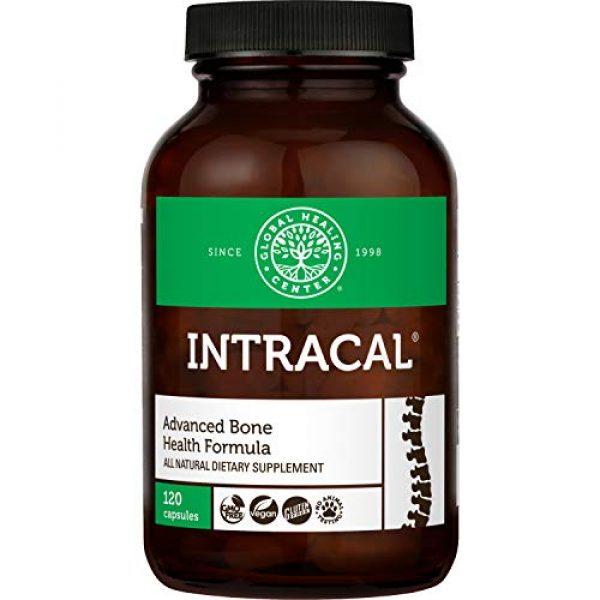 Global Healing Center Calcium Supplement 1 Global Healing Center IntraCal Natural Calcium and Magnesium Supplement for Maximum Absorption (120 Capsules)