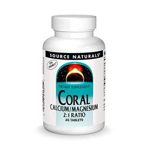 Source Naturals Calcium Supplement 1 Source Naturals Coral Calcium & Magnesium 600 mg Dietary Supplement - 45 Tablets