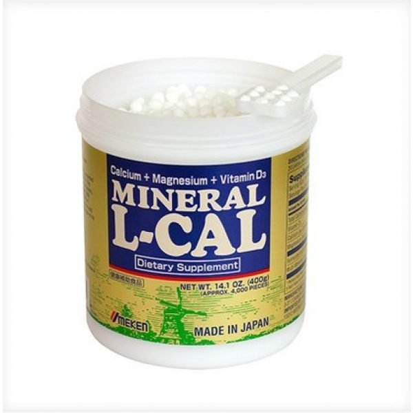 Umeken Calcium Supplement 3 Umeken Mineral L Cal (Large Bottle), 6 Month Supply- Calcium Enriched with Magnesium, Vitamin D3 and Minerals. Water Soluble and Fast Absorbing. Made in Japan.