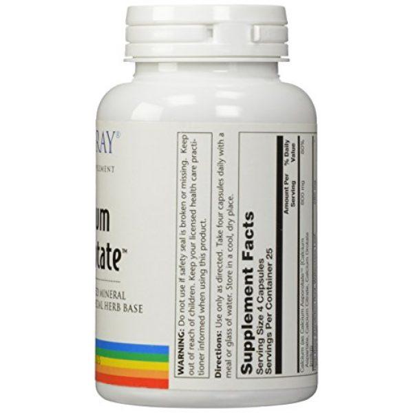 Solaray Calcium Supplement 2 Solaray Calcium Asporotate, Capsule (Btl-Plastic) 800mg   100ct