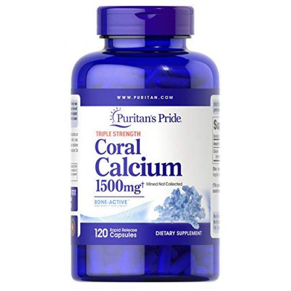Puritan's Pride Calcium Supplement 1 Puritan's Pride Triple Strength Coral Calcium 1500 mg-120 Capsules