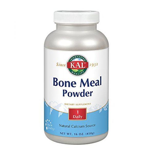 KAL Calcium Supplement 1 KAL Bone Meal Powder | Sterilized & Edible Supplement Rich in Calcium, Phosphorus, Magnesium | for Bones, Teeth, Nerves, Muscular Function | 16 oz