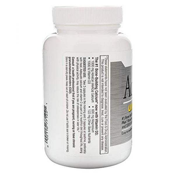 LANE LABS Calcium Supplement 3 Lane Innovative - AdvaCAL Ultra 1000, Bone-Building Calcium*, Including Vitamin D3 and Magnesium, Easy Absorption (120 Capsules, Pack of 3)
