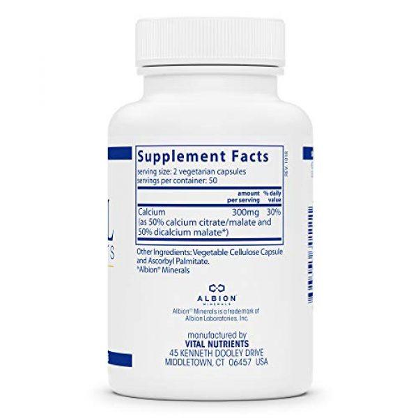 Vital Nutrients Calcium Supplement 2 Vital Nutrients - Calcium (Citrate/Malate) - Most Bioavailable Form of Calcium - 100 Vegetarian Capsules per Bottle - 150 mg