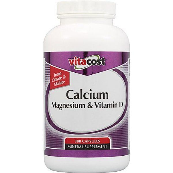 Vitacost Brand Calcium Supplement 1 Vitacost Calcium Magnesium & Vitamin D - 300 Capsules