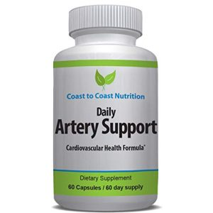 Coast to Coast Nutrition Calcium Supplement 1 Artery Cleanse & Heart Health Supplement for Improved Circulation and Cardiovascular Health   Addresses Clogged Arteries & Targets Calcification of Blood Vessels for a Healthy Heart   60 Day Supp (1)