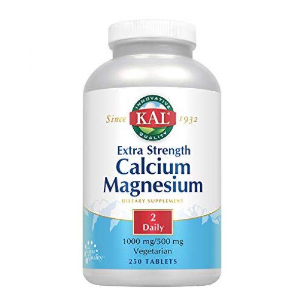 KAL Calcium Supplement 1 KAL Extra Strength Calcium Magnesium Tablets, 250 Count