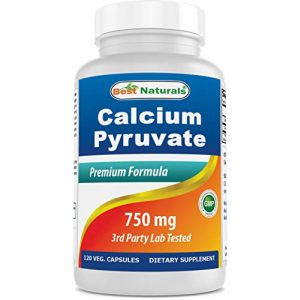 Best Naturals Calcium Supplement 1 Best Naturals Calcium Pyruvate Fat-Burning Formula for Thighs, 750 mg 120 Capsules - Calcium pyruvate for Weight Loss