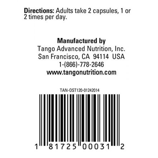 Tango Calcium Supplement 5 OsteoPhase Advanced Bone Support Formula: All-Natural Herbal Supplement Aids Calcium Regulation and Promotes Skeletal Bone Health (120 Count)