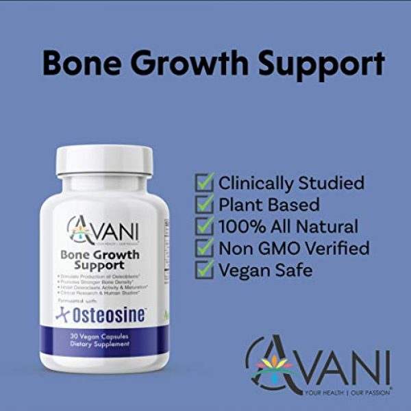 Avani Health Calcium Supplement 6 Avani Health - Osteosine Bone Growth Support - Increase Bone Calcium Levels and Bone Strength - Enhanced Absorption with BioPerine and AstraGin - Gluten Free Bone Supplement - 30 Vegan Capsules