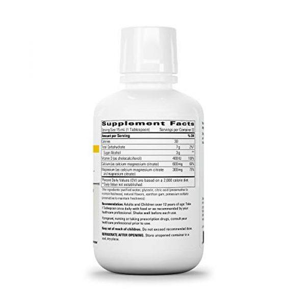 Integrative Therapeutics Calcium Supplement 2 Integrative Therapeutics - Liquid Calcium Magnesium, 2:1 Ca/Mg Ratio - Bioavailable Mineral Forms - Orange Vanilla Flavor - 16 fl oz