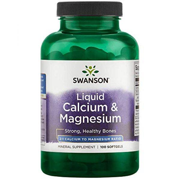 Swanson Calcium Supplement 1 Swanson Liquid Calcium & Magnesium 300/150 Milligrams 100 Sgels