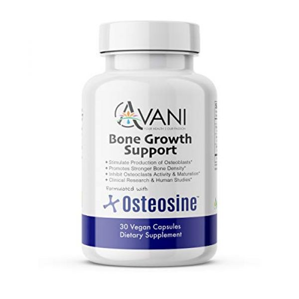 Avani Health Calcium Supplement 1 Avani Health - Osteosine Bone Growth Support - Increase Bone Calcium Levels and Bone Strength - Enhanced Absorption with BioPerine and AstraGin - Gluten Free Bone Supplement - 30 Vegan Capsules