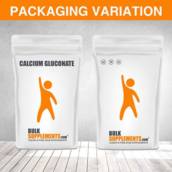 BULKSUPPLEMENTS.COM Calcium Supplement 6 BulkSupplements Calcium Gluconate Powder (100 Grams)