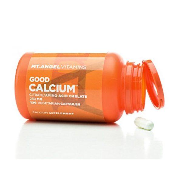 Mt. Angel Vitamins Calcium Supplement 1 Mt. Angel Vitamins - Good Calcium, Citrat/AminoAcid (120 Vegetarian Capsules)