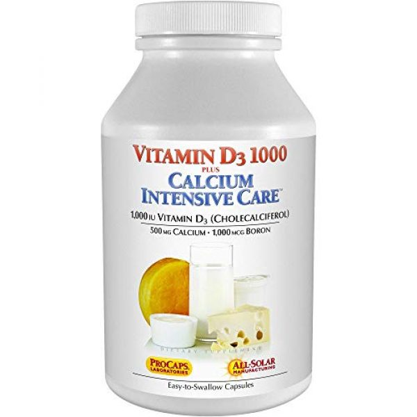 ANDREW LESSMAN Calcium Supplement 1 Andrew Lessman Vitamin D3 1000 Plus Calcium Intensive Care 250 Capsules - Essential for Calcium Absorption, Supports Bone Health, Healthy Muscle Function. Gentle, Easy-to-Absorb. No Additives