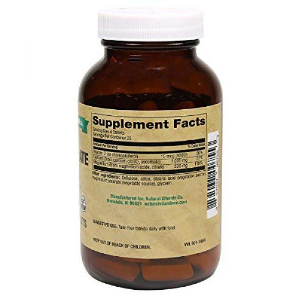 Natural Vitamin Co. Calcium Supplement 3 Natural Vitamin Co. - Cal-Mag Citrate Complex with Vitamin D3, Calcium 1000 mg, Magnesium 500 mg, Vitamin D3 400 IU, 100 Tablets, 1 Month Supply, Gluten Free, Vegetarian (100)