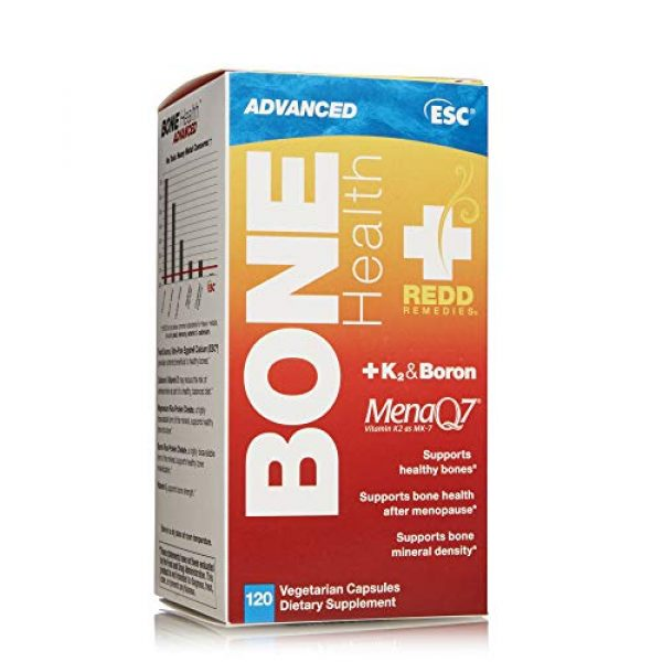 Redd Remedies Calcium Supplement 3 Redd Remedies, Bone Health Advanced, Supports Bone Mineral Density, 120 Capsules