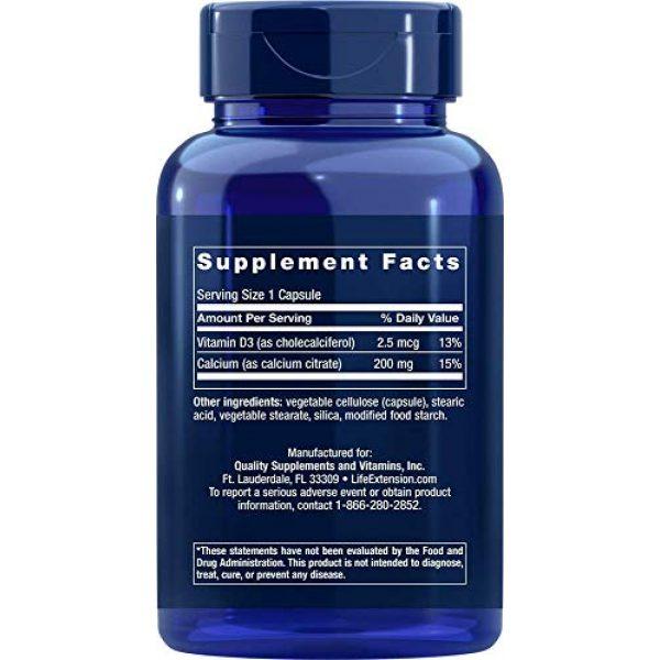 Life Extension Calcium Supplement 3 Life Extension Calcium Citrate with Vitamin D, 200 Vegetarian Capsules