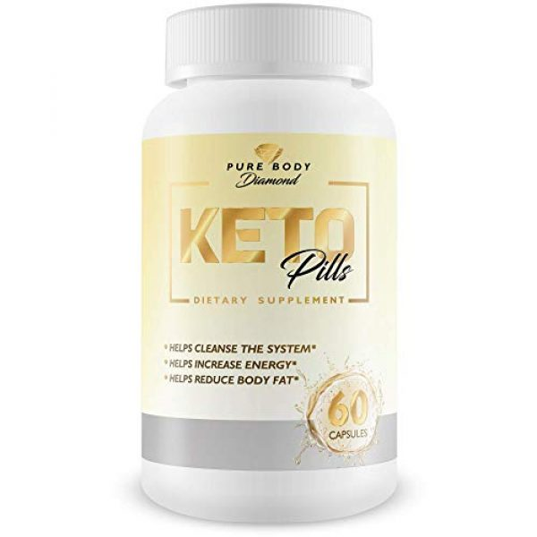 Pure Body Diamond Calcium Supplement 1 Pure Body Diamond Keto Pills - Keto Boost - Accelerate Ketosis - Burn More Fat - Burn Fat Faster - Keto Pills for Women, Keto Pills for Men - Feel The Keto Power of Bhb exogenous Ketones Capsules