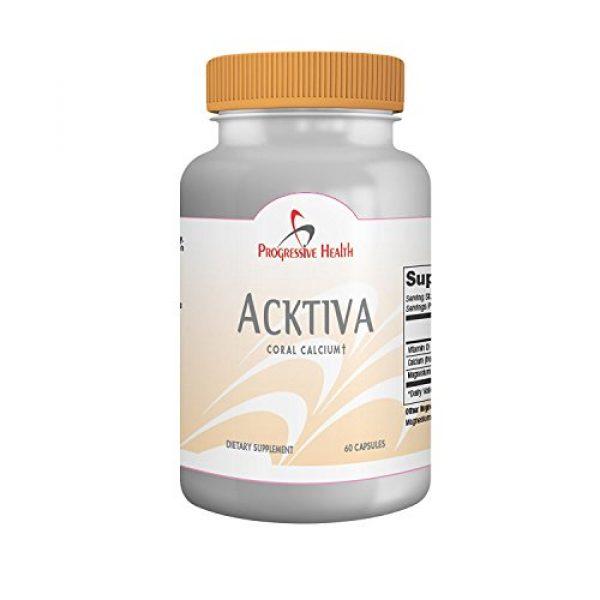 Progressive Health Calcium Supplement 1 Coral Calcium with Magnesium and Vitamin D - Acktiva Coral Calcium Supplement Can Help You Feel Great by Getting Rid of Aches and Pains