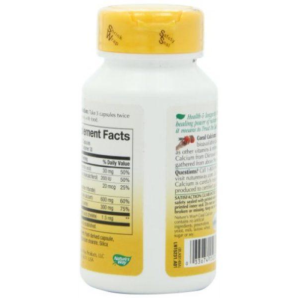 Nature's Way Calcium Supplement 4 Nature's Way Coral Calcium 600 mg w/vitamins & minerals, 90 Count
