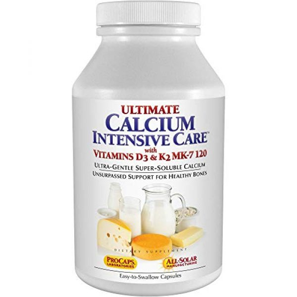 ANDREW LESSMAN Calcium Supplement 1 Andrew Lessman Ultimate Calcium Intensive Care with Vitamin D3 & K2 MK7-120 mcg - 180 Capsules - Bone and Skeleton Health Essentials. Gentle, Easy to Swallow, Super Soluble. No Additives