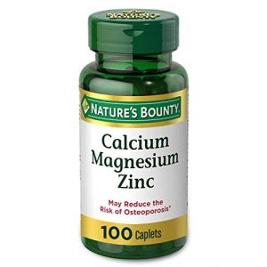 Nature's Bounty Calcium Supplement 1 Calcium Magnesium & Zinc by Nature's Bounty, Immune Support and Supporting Bone Health, 100 Caplets