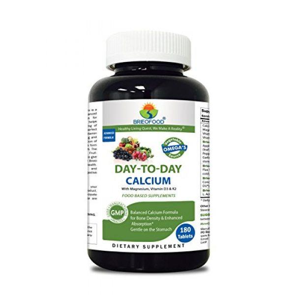 Brieofood Calcium Supplement 1 Brieofood Food Based Calcium 180 Tablets - Premium Formula with Brieofood Fruit & Vegetable Blends, Digestive Blend, Vegetable Omega Blend