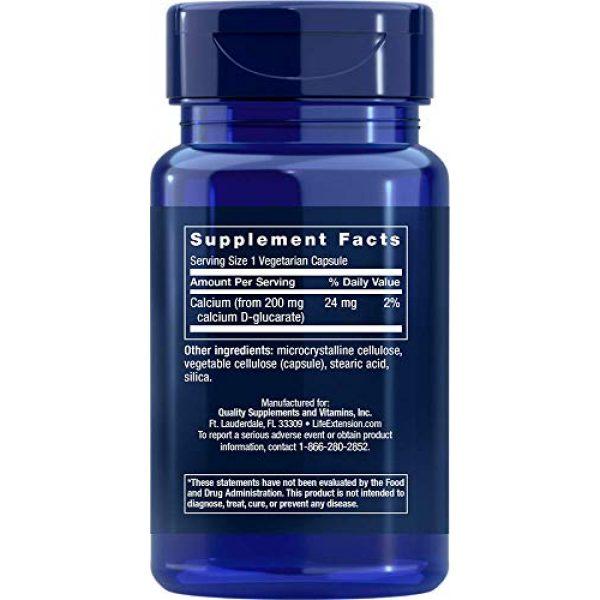Life Extension Calcium Supplement 2 Life Extension Calcium D-Glucarate 200 Mg, 60 vegetarian capsules