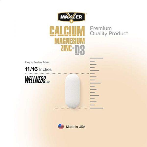 MAXLER Calcium Supplement 3 Maxler Calcium Magnesium Zinc Plus Vitamin D3 - Essential Minerals Supplement - Calcium 1000mg Magnesium 600mg Zinc 15mg Vitamin D3 600IU - Immune Support - 90 Calcium Magnesium Zinc D3 Tablets