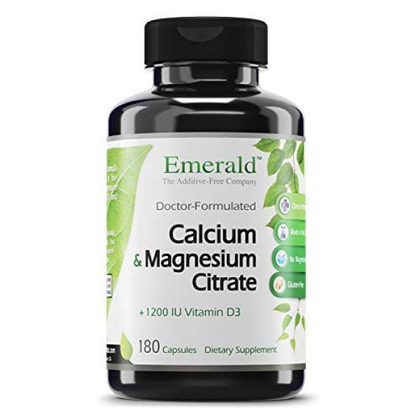 Ultra Botanicals Calcium Supplement 1 Emerald Labs Calcium Magnesium Citrate with 1,200 IU Vitamin D for Bone Support, Helps Maintain Immune System Health - 180 Capsules