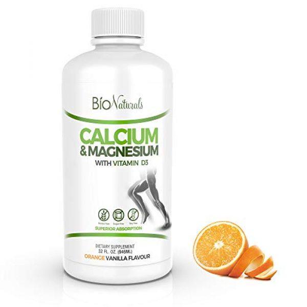 Bio Naturals Calcium Supplement 1 Bio Naturals Calcium & Magnesium Liquid Supplement with Vitamin D3 - Natural Formula, FOUR Types of Calcium Supports Strong Bones with Superior Absorption to Pills - 100% Vegetarian - 32 fl oz