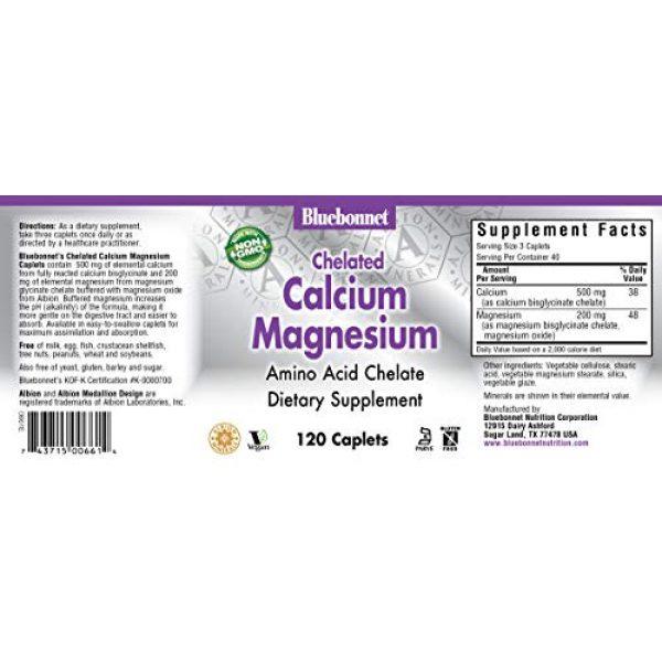 BlueBonnet Calcium Supplement 2 BlueBonnet Albion Chelated Calcium Magnesium Caplets, 120 Count