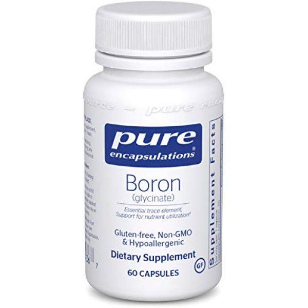 Pure Encapsulations Calcium Supplement 1 Pure Encapsulations Boron (Glycinate) | Supplement for Hormone Balance, Bone Strength and Health, Connective Tissue, and Nutrient Metabolism* | 60 Capsules