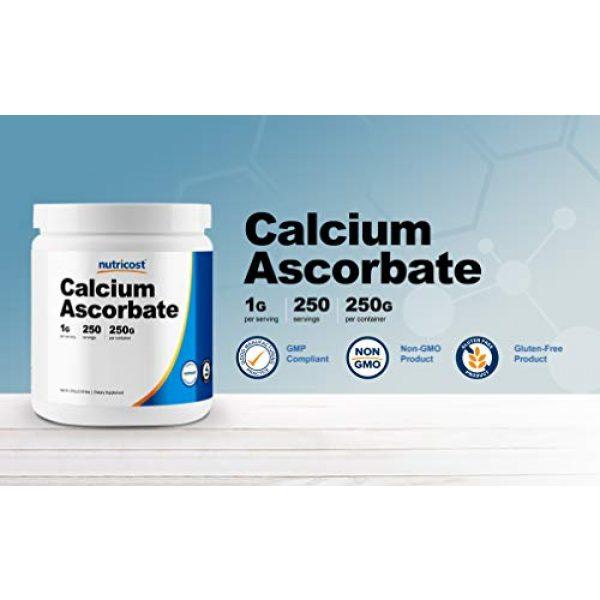 Nutricost Calcium Supplement 3 Nutricost Calcium Ascorbate Powder (Vitamin C and Calcium Complex), 250G - Non-GMO, 250 Serving