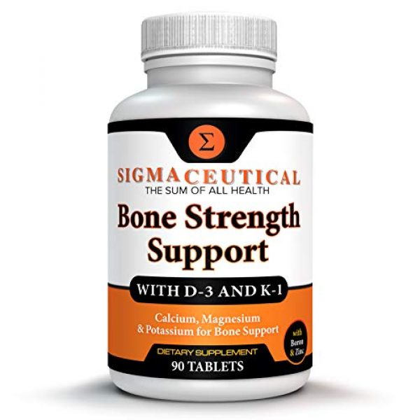 Sigmaceutical Calcium Supplement 1 Bone Strength Calcium Magnesium Supplement - Bone Health Boron Supplement - Calcium Citrate w/ Vitamin D3 - Calcium Carbonate - 90 Tablets