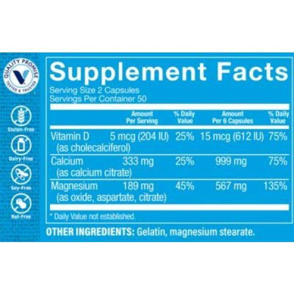 The Vitamin Shoppe Calcium Supplement 2 Calcium Citrate+MagnesiumVitamin D,MultiMineral Bone Health Supplement,Vitamin D Aids Absorption, Calcium 999mg, Magnesium 567mg, Vitamin D 612IU per Daily dose (100 Capsules) by The Vitamin Shoppe