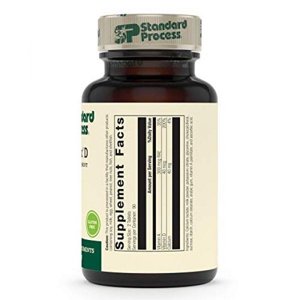 Standard Process Calcium Supplement 2 Standard Process Cataplex D - Whole Food Immune Support, Digestive Health, Bone Strength and Bone Health with Cholecalciferol, Calcium Lactate, and Ascorbic Acid - Vegetarian - 180 Tablets