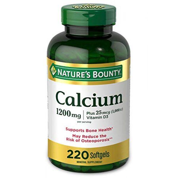 Nature's Bounty Calcium Supplement 1 Calcium & Vitamin D by Nature's Bounty, Immune Support & Bone Health, 1200mg Calcium & 1000iu D3, 220 Softgels