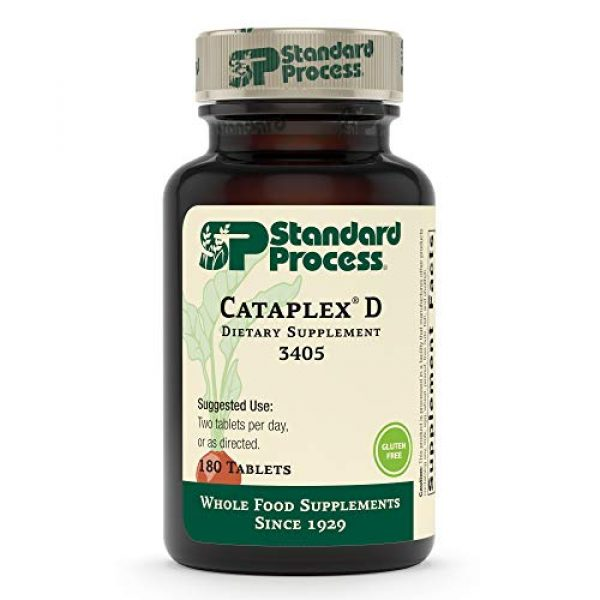 Standard Process Calcium Supplement 1 Standard Process Cataplex D - Whole Food Immune Support, Digestive Health, Bone Strength and Bone Health with Cholecalciferol, Calcium Lactate, and Ascorbic Acid - Vegetarian - 180 Tablets