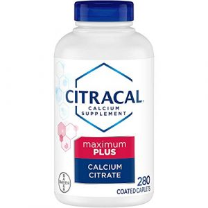 Citrical Calcium Supplement 1 Citracal Maximum Plus, Highly Soluble, Easily Digested, 630 mg Calcium Citrate with 500 IU, 280 Count