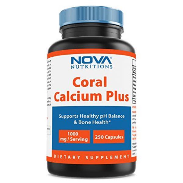 Nova Nutritions Calcium Supplement 1 Nova Nutritions Coral Calcium Plus 1000 mg 250 Capsules - Coral Calcium essential nutrient for bone health