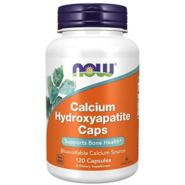 NOW Foods Calcium Supplement 1 NOW Supplements, Calcium Hydroxyapatite Caps, Supports Bone Health*, 120 Capsules