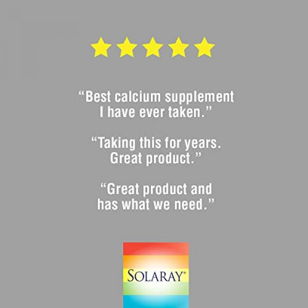 Solaray Calcium Supplement 5 Solaray Calcium & Magnesium Citrate with Vitamin D-2, 1:1 Ratio | for Healthy Bones, Teeth, Muscle & Nervous System Function | High Absorption | 180 Count