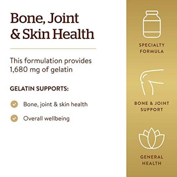 Solgar Calcium Supplement 4 Solgar Gelatin 1680 mg, 100 Capsules - Natural Gelatin - Supports Bone, Joint & Skin Health - Gluten Free, Dairy Free - 33 Servings