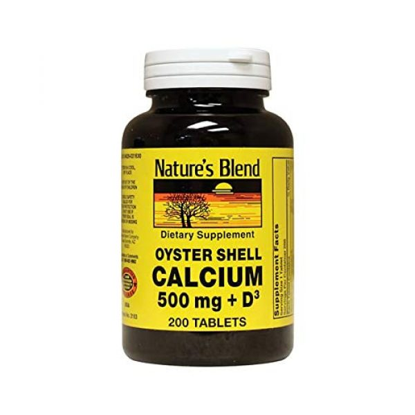 Nature's Blend Calcium Supplement 1 Nature's Blend Oyster Shell Calcium with D3 200 Tabs