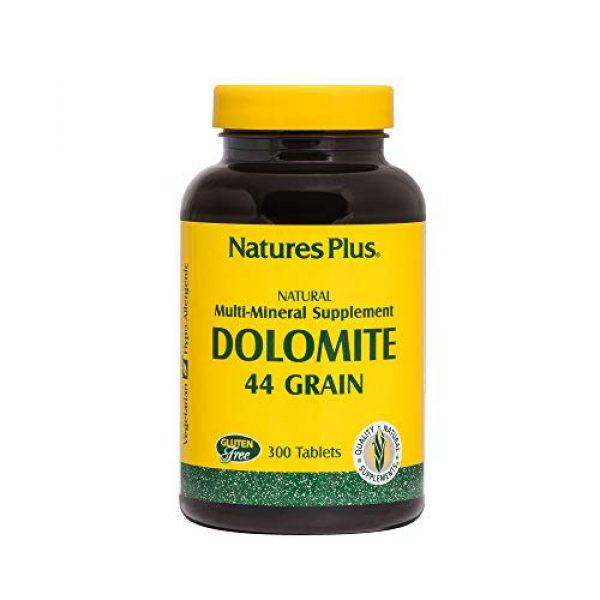 Nature's Plus Calcium Supplement 1 NaturesPlus Dolomite 44 Grain - 300 Vegetarian Tablets - Calcium & Magnesium Supplement, Heart Health Support, Promotes Healthy Bones - Hypoallergenic, Gluten-Free - 75 Servings