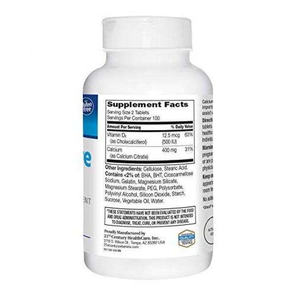 21st Century Calcium Supplement 4 21st Century Calcium Citrate + D3 Petites Coated Tablets 200 ea
