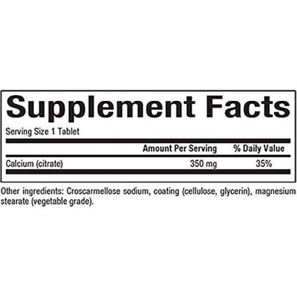 Natural Factors Calcium Supplement 2 Natural Factors, Calcium Citrate, Helps Maintain Strong Bones and Teeth, 90 tablets (90 servings)